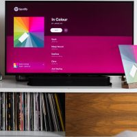 Television screen with app open - Android TV OS