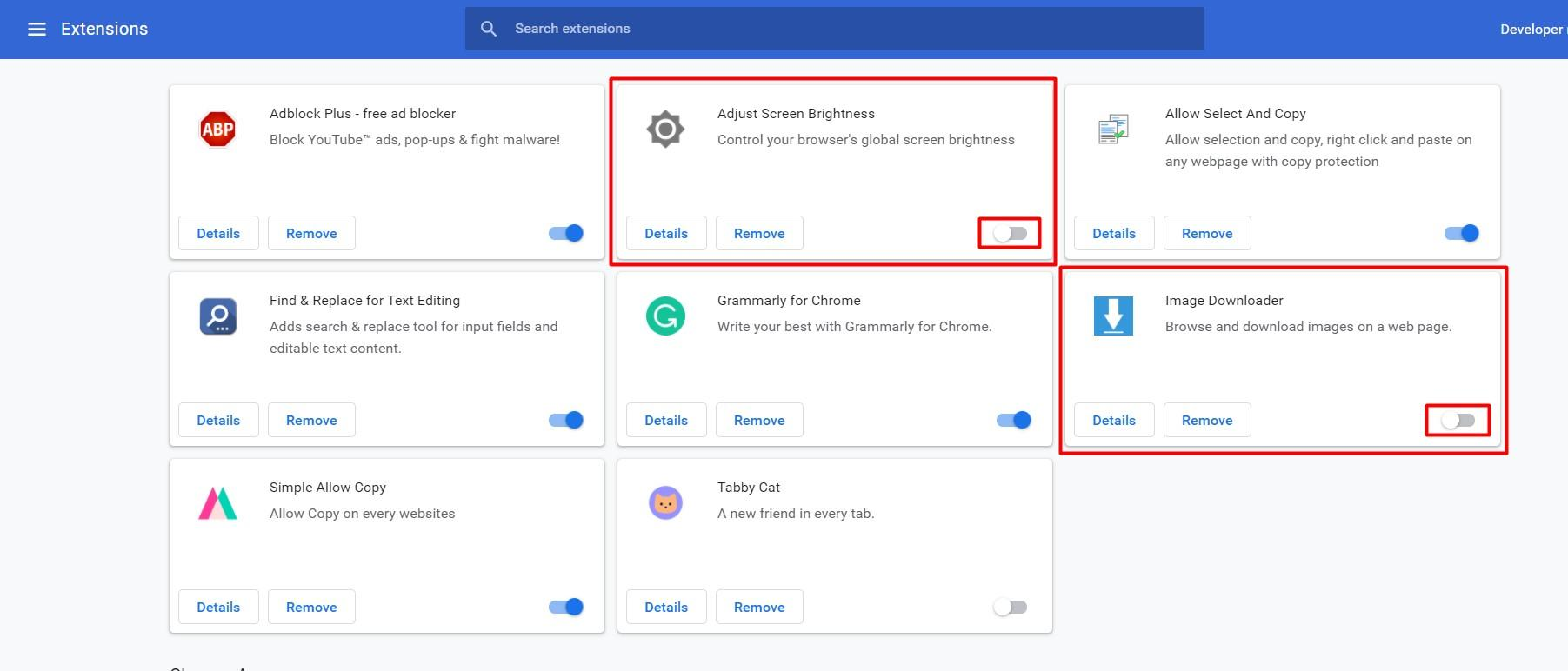 Temporary Disable Google Chrome Extension