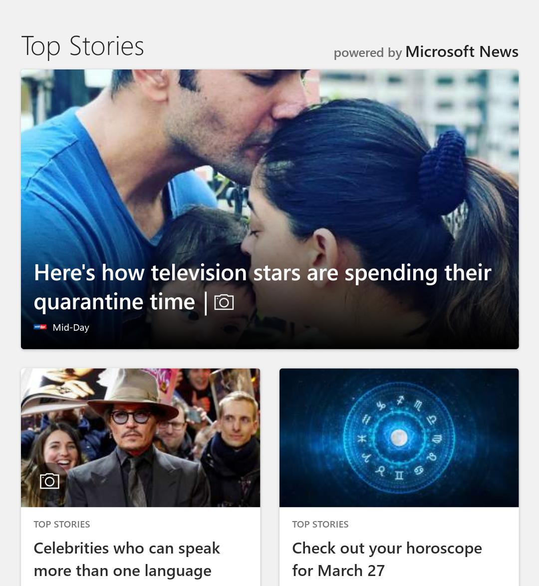 Top Stories in Microsoft Edge Android