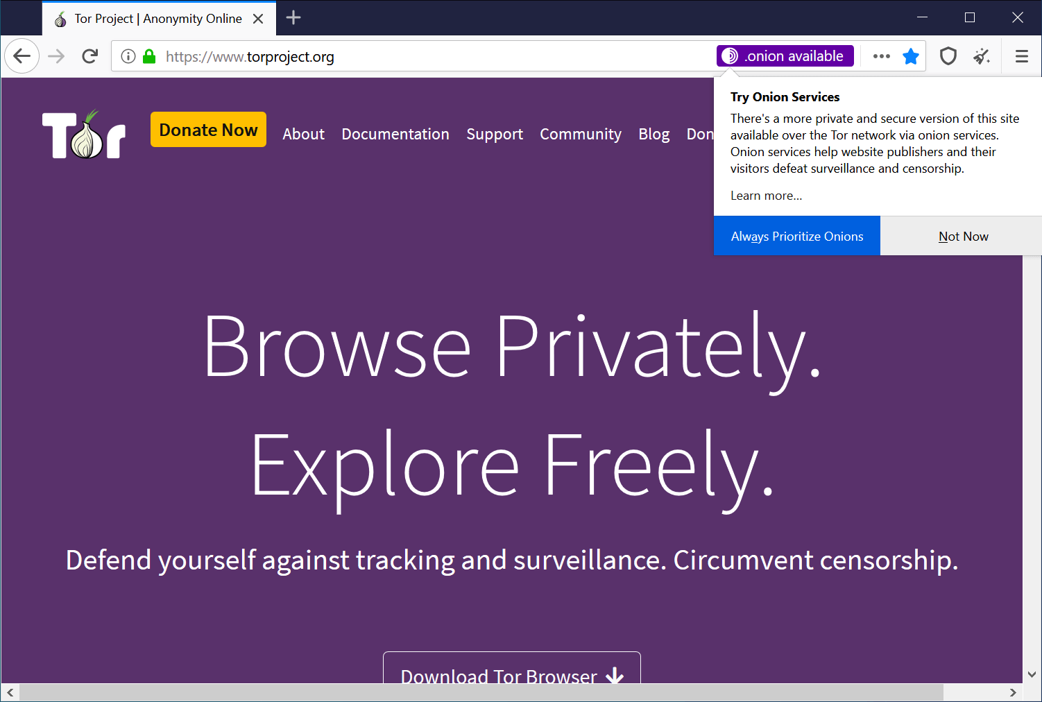 Tor Project Privacy Browser