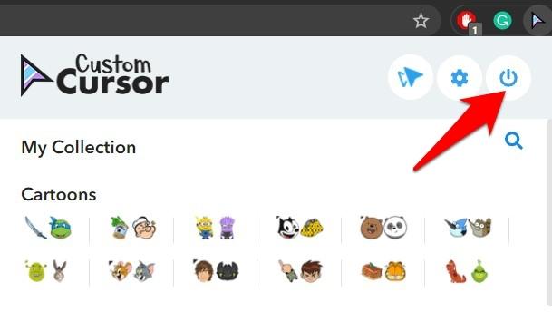 Turn off the Custom Cursor Chrome