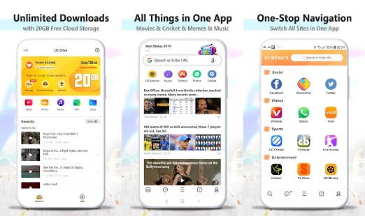 UC Browser for Android Features