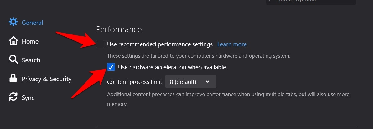 Use Hardware Acceleration when available in Firefox