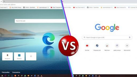 User Interface Of Chrome and Edge Browsers
