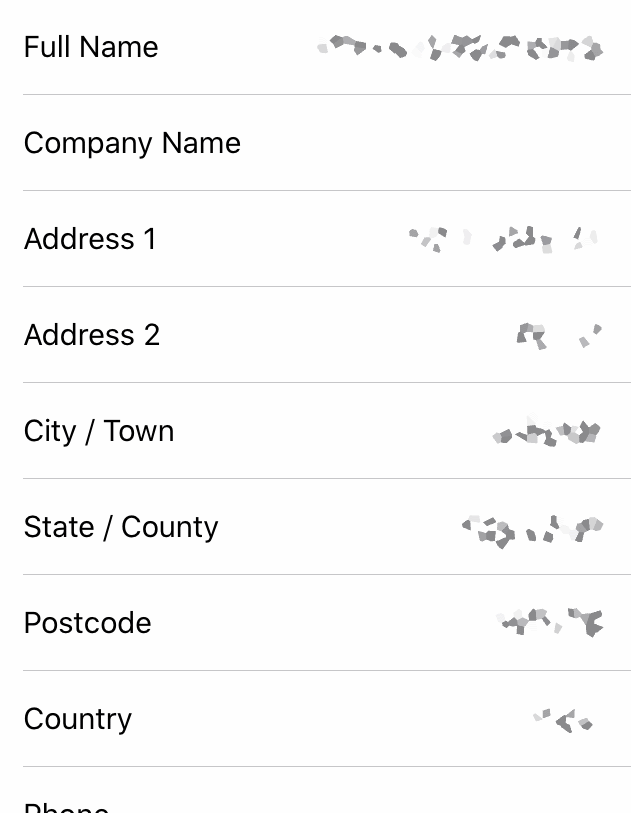 View Address Details in Chrome iOS