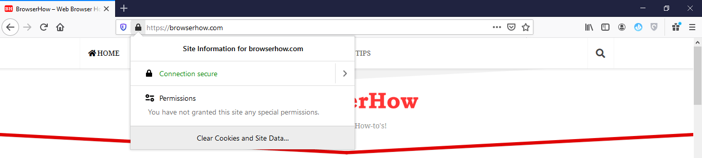 View Site Information in Firefox Browser on Computer