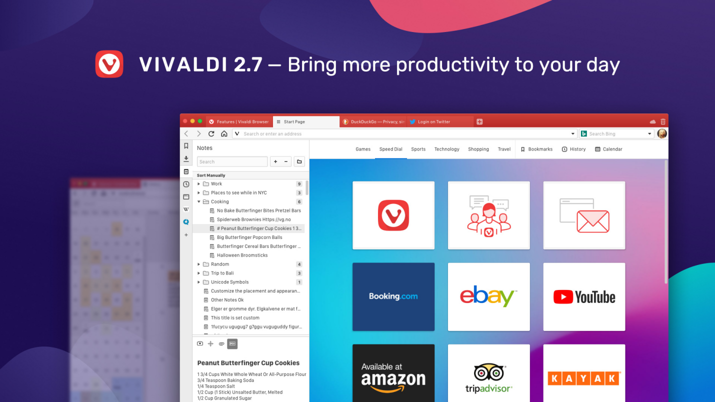 Vivaldi Browser Features