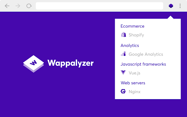 Wappalyzer Analyze the Web Technology Extension