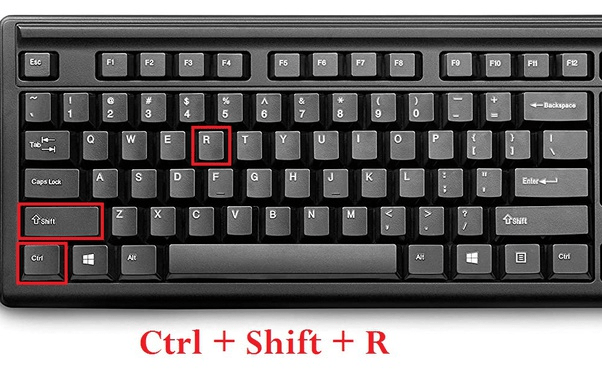 Windows Keyboard with Hard Refresh keystroke