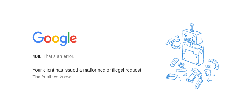 Your client has issued a malformed or illegal request