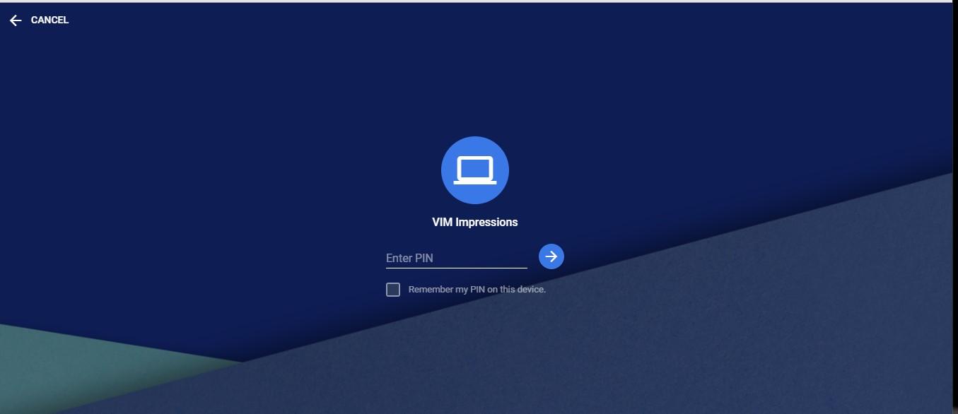 chrome remove desktop enter PIN for support