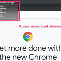 chrome reopen closed tab missing