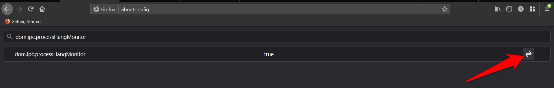 dom.ipc.processHangMonitor Firefox Config