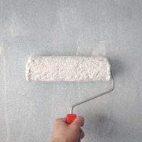 paint roller on wall for theme feat