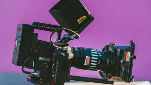 RED camera on Pink background