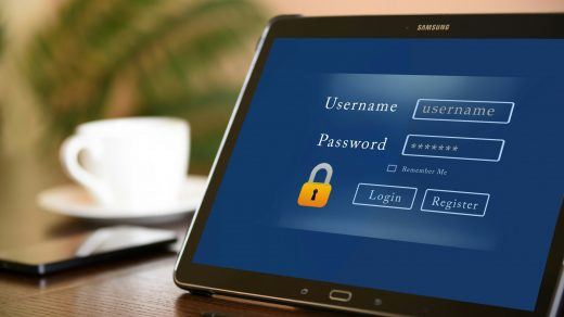 username and password screen on device feat